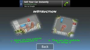 Traffic Rush instruction screen