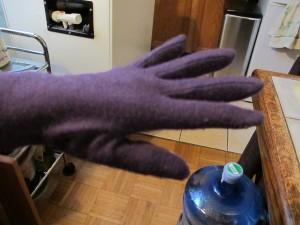 Gloves on display
